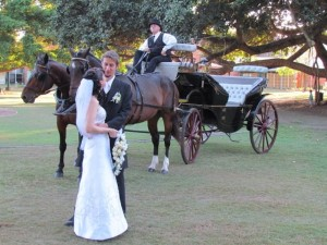 Bride and Groom Wedding Carriage