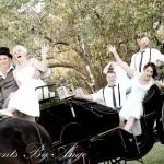 Fun in a Wedding Carriage